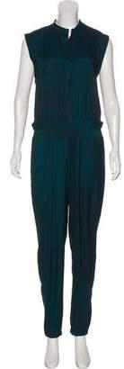 Halston High-Rise Sleeveless Jumpsuit w/ Tags