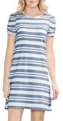 Vince Camuto Sapphire Bloom Striped Shift Dress