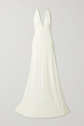Michael Lo Sordo Alexandra Silk Crepe De Chine Gown - Ivory