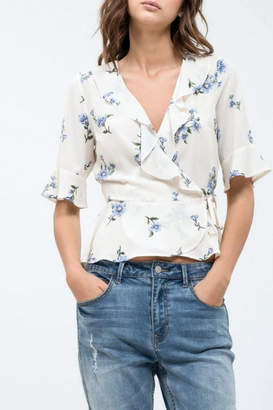 Blu Pepper Floral Wrap Top