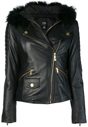 Class Roberto Cavalli fur collar jacket