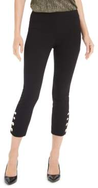 Alfani Button-Hem Cropped Pants, Created For Macy's
