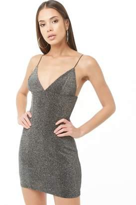 Forever 21 Metallic Glitter Mini Dress