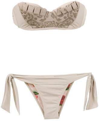 Amir Slama ruffled bandeau bikini set