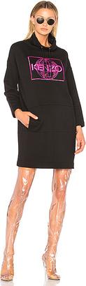 Kenzo Artwork Sweat Dress in Black $380 thestylecure.com