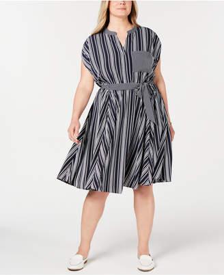 Charter Club Plus Size Striped Dress
