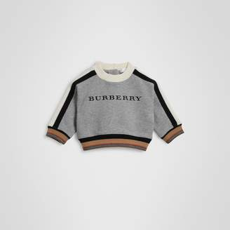 Burberry Childrens Embroidered Logo Cotton Sweatshirt