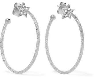 Carolina Bucci Shooting Star 18-karat White Gold Diamond Hoop Earrings