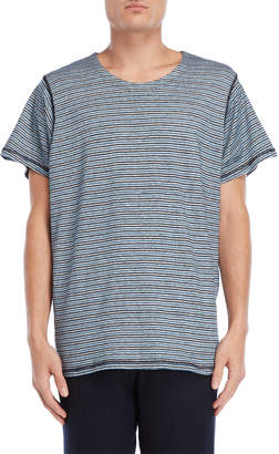 Roberto Collina Linen-Blend Tr-Striped Tee
