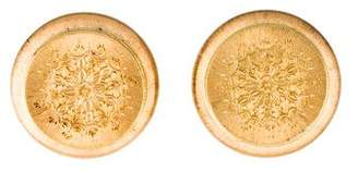18K Etched Clip-On Earrings