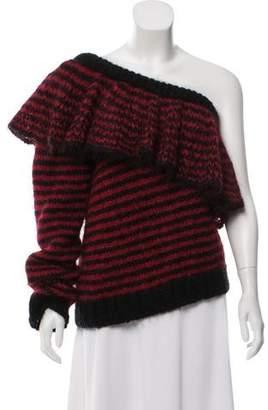 Philosophy di Lorenzo Serafini Mohair-Blend One-Shoulder Sweater