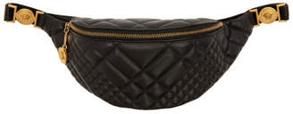 Versace Black Quilted Medusa Belt Bag