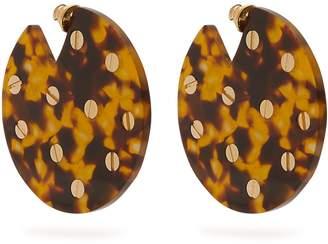 VANDA JACINTHO Embellished disc earrings