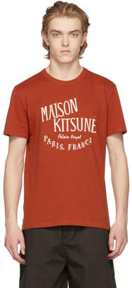 MAISON KITSUNÉ Orange Palais Royal T-Shirt