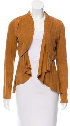 Madison Marcus Suede Open Front Jacket
