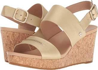 UGG Women's Elena Metallic II Wedge Sandal