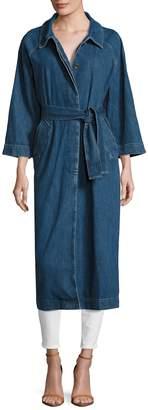 MiH Jeans Women's Belted Long Denim Coat