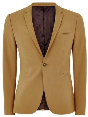 Topman Mens Gold Spray On Suit Jacket