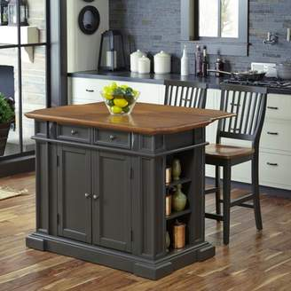 Americana Home Styles Kitchen Island with 2 Stools