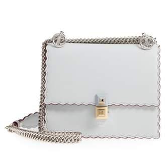 Fendi Mini Kan I Scalloped Leather Shoulder Bag