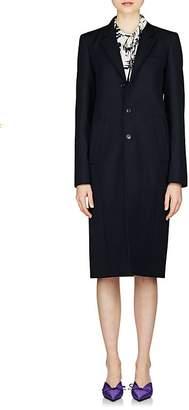 Balenciaga Women's Virgin Wool Twill Three-Button Peacoat