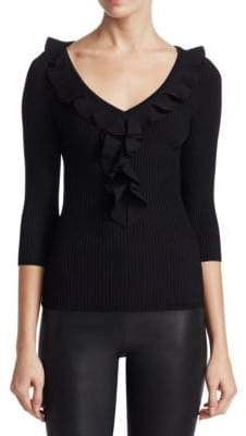 Saks Fifth Avenue COLLECTION Ruffle Front Top