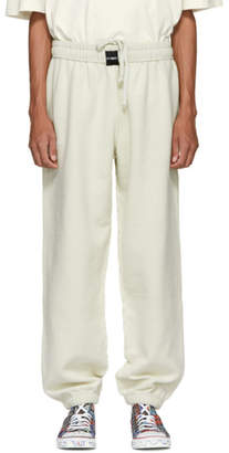 Vetements White Oversized Inside-Out Lounge Pants
