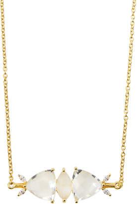 Indulgems Mixed Stone Bar Pendant Necklace, White