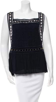 Chloé Guipure Lace Embellished Top