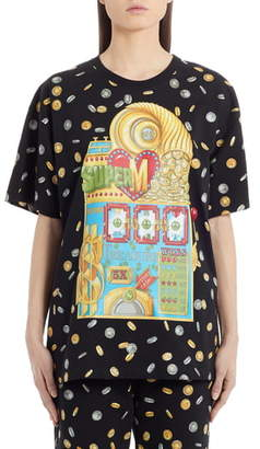 Moschino Coin Print Oversized Graphic Tee