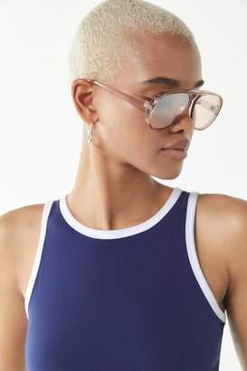 Urban Outfitters Richie Oversized Aviator Sunglasses