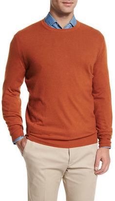 Loro Piana Baby Cashmere Crewneck Sweater $1,195 thestylecure.com