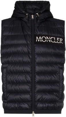 Moncler hooded padded gilet jacket