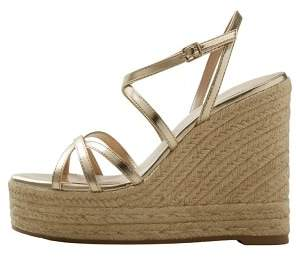 MANGO Wedge criss-cross sandals