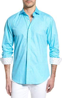 Bugatchi Freehand Shaped Fit Sport Shirt