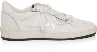 GOLDEN GOOSE DELUXE BRAND Ball Star low-top leather trainers $390 thestylecure.com