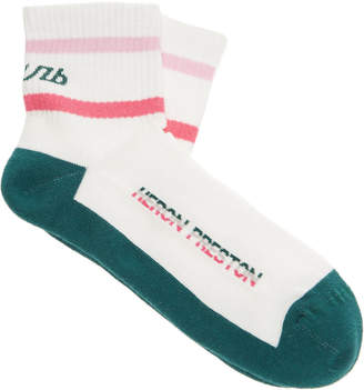 Heron Preston СТИЛЬ Striped Cotton-Blend Socks