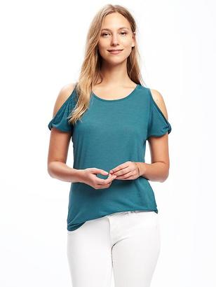 Relaxed Cutout-Shoulder Top for Women $22.94 thestylecure.com