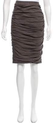 Byron Lars Ruched Knee-Length Skirt