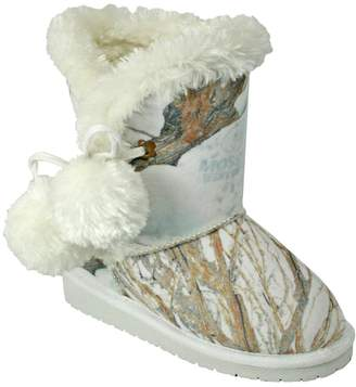 Dawgs Kids' Mossy Oak Side Tie Boots