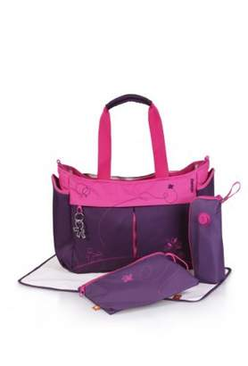 Okiedog Metro diaper bag Mondrian purple by