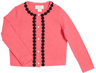 Kate Spade Lace-Trim Knit Cardigan, Size 2-6x