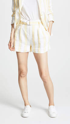 Frame Linen Strip Shorts