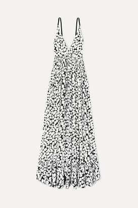 Proenza Schouler Printed Crepe De Chine Maxi Dress - White