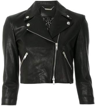 Givenchy cropped fitted biker jacket