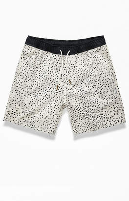Charlie Holiday White Spotted Tangier Swim Trunks