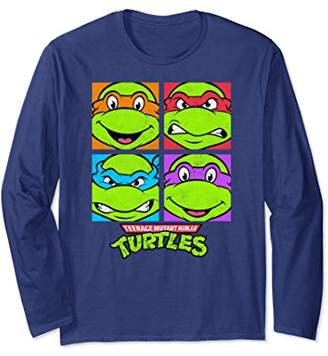 Nickelodeon TMNT four faces Long Sleeve T-shirt