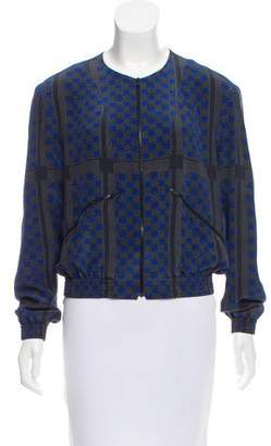 Theyskens' Theory Printed Silk Jacket