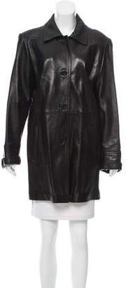 Ellen Tracy Leather Short Coat