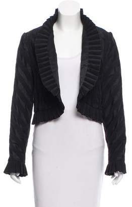 Bill Blass Textured Open Front Blazer